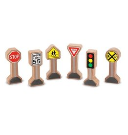 Melissa & Doug 2128	 - 	M&D WOODEN TRAFFIC SIGNS