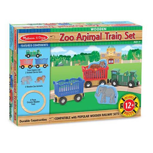 Melissa & Doug 2045	 - 	M&D ZOO ANIMAL TRAIN SET
