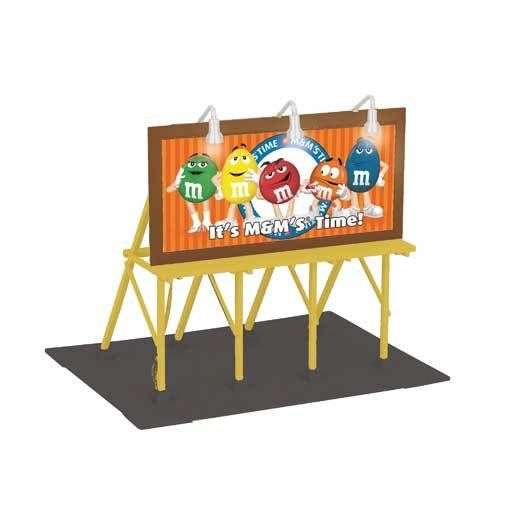 MTH 3090480	 - 	M&M LIGHTED BILLBOARD
