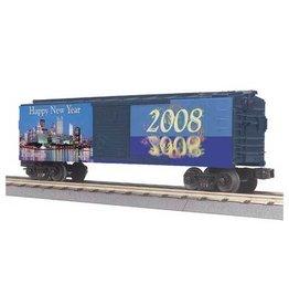 MTH - RailKing 3074461 - BOX CAR NEWS YEAR 2008