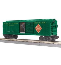 MTH - RailKing 3079475	 - 	BOX CAR RAILWAY EXP W/SIGNALMAN