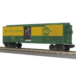 MTH - RailKing 3079313	 - 	30-79313 BOX CAR Rutland W/SIGNAL MAN