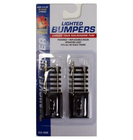LIFE-LIKE 3008	 - 	Life-Like HO 433-3008 Lighted Bumpers, Code 100 Nickel Silver (2-Pack)