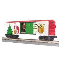 MTH - RailKing 3079281	 - 	Box Car w/Signal Man CHRISTMAS