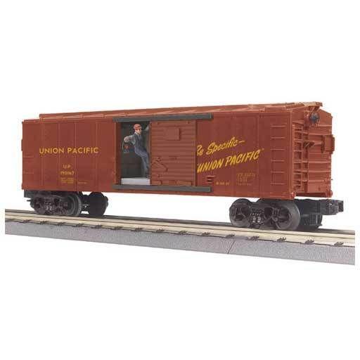 MTH - RailKing 3079187 - BOX CAR W/SIGNAL MAN UP