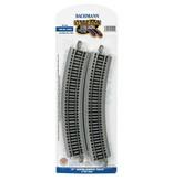 BACHMANN 44501 Bachman 18 inch radius curve track ( 4 per pack)