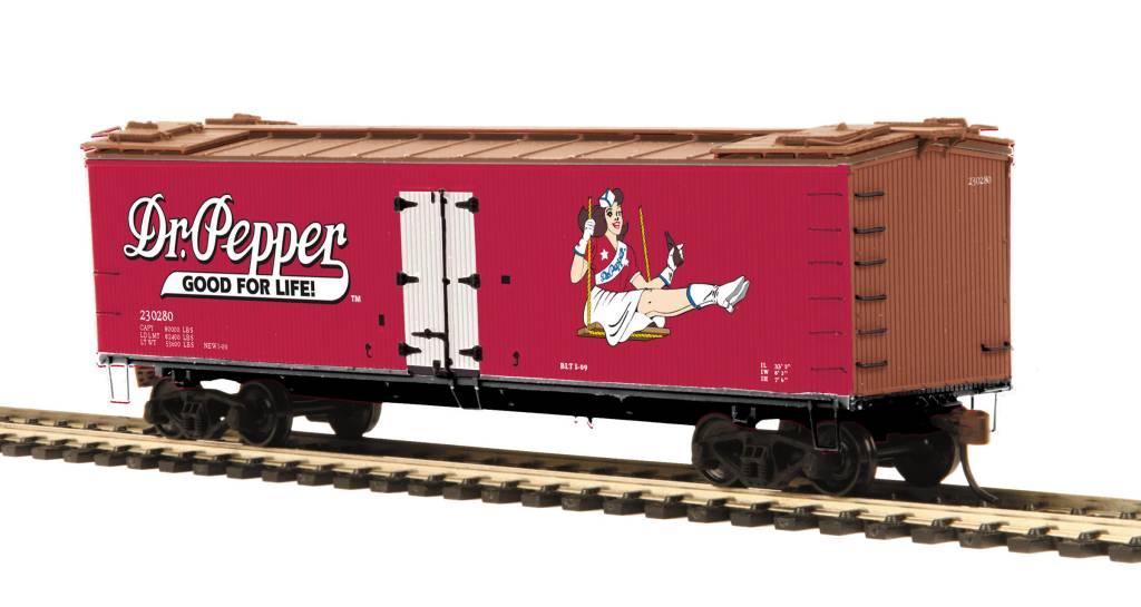 MTH - HO Dr. Pepper R40-2 Woodside Reefer - HO