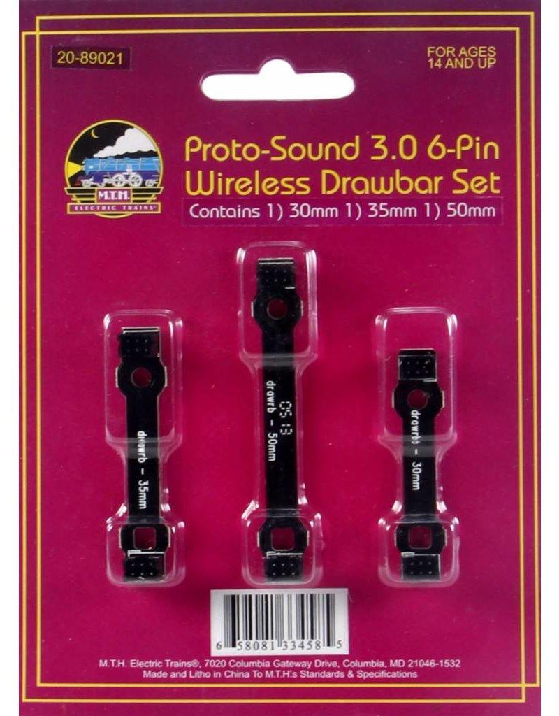 20-89021 Proto-Sound 3.0 6-Pin Wireless Drawbar Set #2 30/35/50mm 6pn