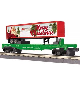 MTH - RailKing 30-76687 Christmas Flat Car with 40' Trailer