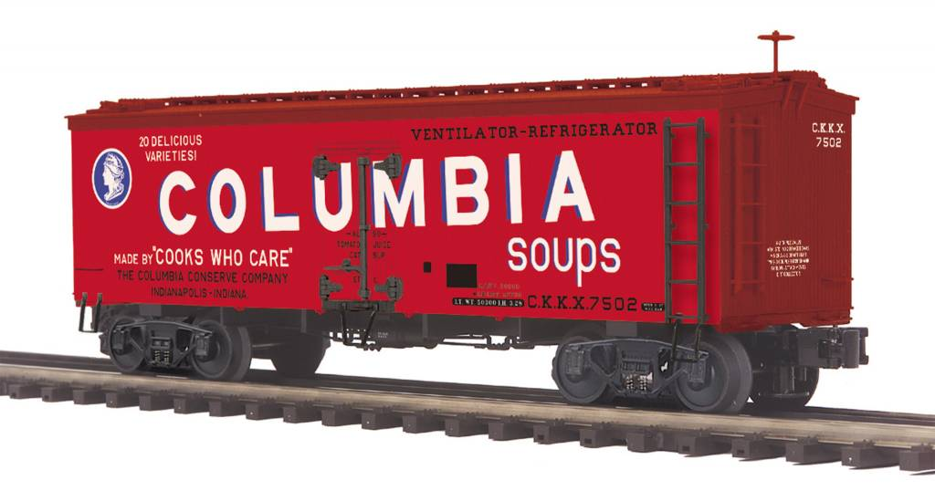 MTH - Premier Columbia Soups 36' Woodsided Reefer Car 20-94413