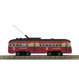 MTH - RailKing #30-5163-1 Philadelphia Suburban Trans. Co., Red Arrow Division, PCC Electric Street Car W/Protosound 3.0
