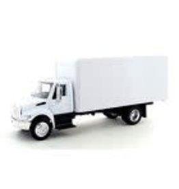 "Choo Choo's NewRay International 4200 1:43 diecast 8"" model delivery Box Truck White NEW"