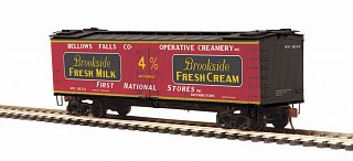 MTH - HO #80-94054, HO Brookside Fresh Milk (#1834) R40-2 Woodside Reefer