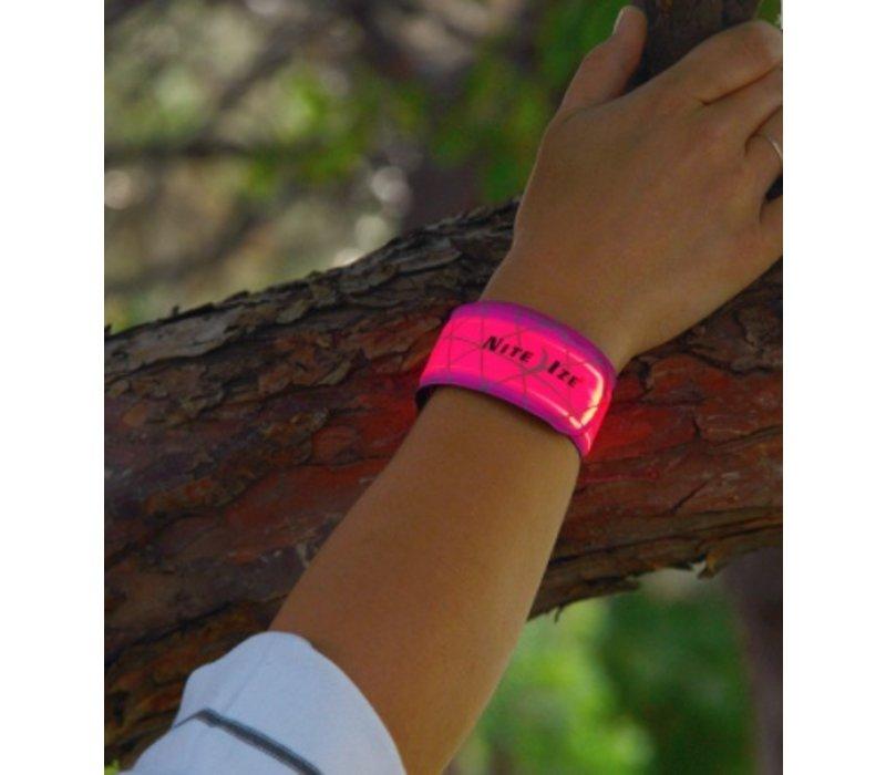 SlapLit LED Bracelet with Wavy Grid:  Red