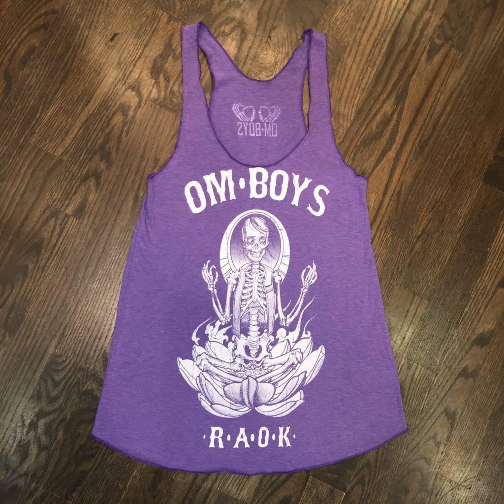 BL151-PUR-SK - Om Boys - Tri-Orchid Tank Tops