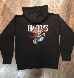 BM80-BU - Om Boys - Black Zip Up Hoodie