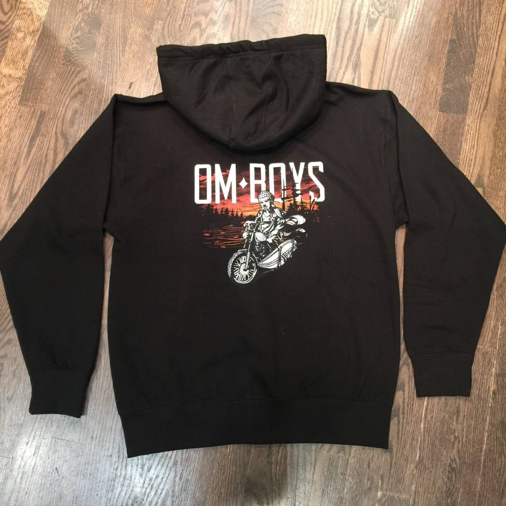BM80-BU - Om Boys - Black Zip Up Hoodie