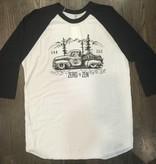 BS165-ZEN - Om Boys - White/Black Baseball T-Shirts