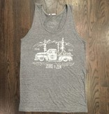 BW110-GREY-ZEN - Om Boys - Mens Grey Tri-Blend Tank Tops