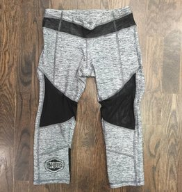 BY067 - La Society - Om Boys - Grey Mesh Yoga Capris