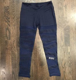 BY068 - La Society - Om Boys - Navy Mesh Bottom Capris