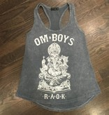 Womens - Om Boys - Acid Wash Grey Tank Top - Ganesh