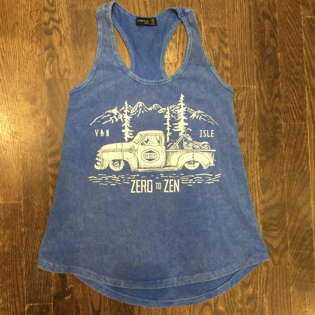 Womens - Om Boys - Acid Wash Blue Tank Top - Zen Truck