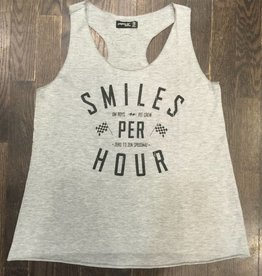 Womens - Om Boys - LGrey Tank Top - Smiles Per Hour