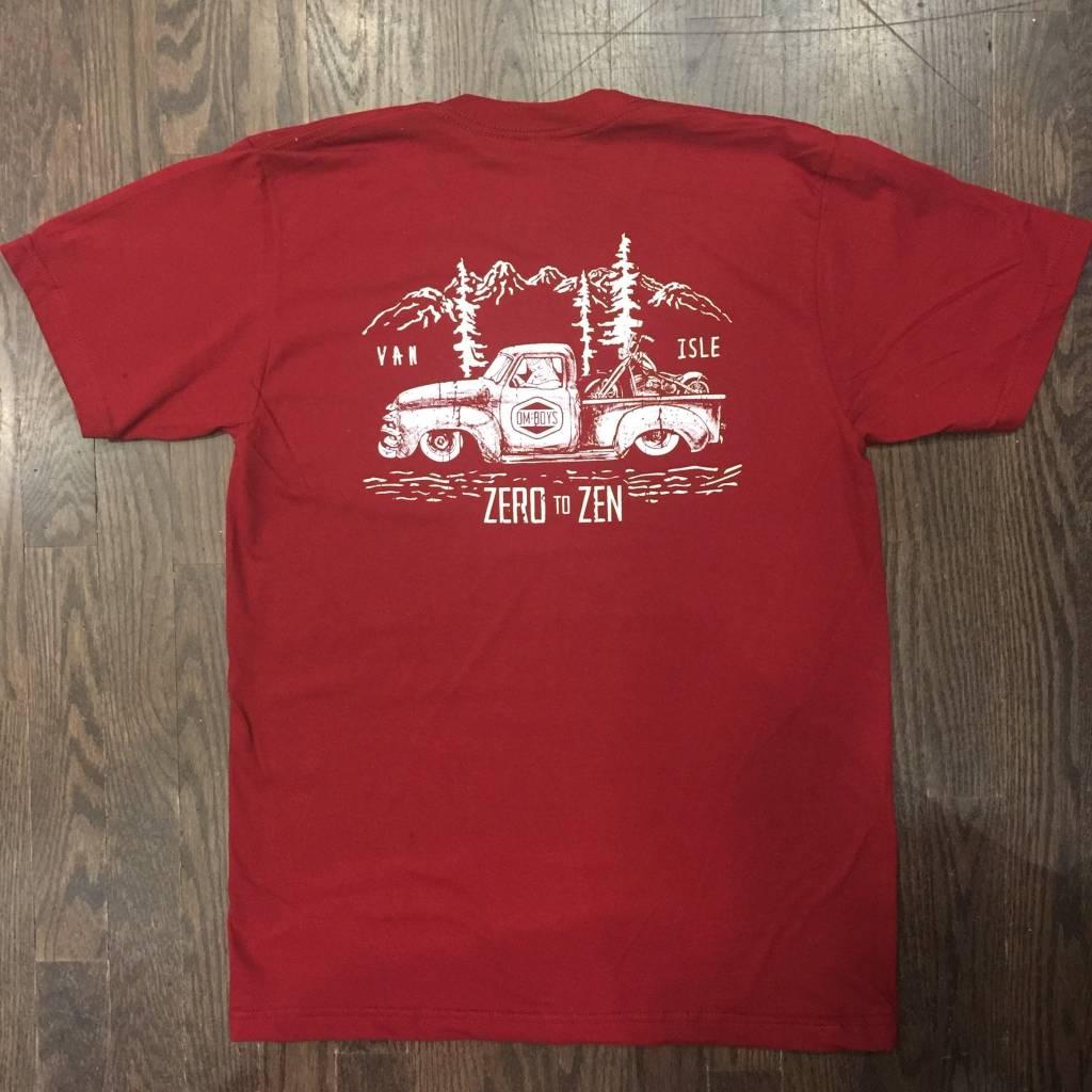 Mens - Om Boys - Burgundy S/S T-Shirts - Zen Truck