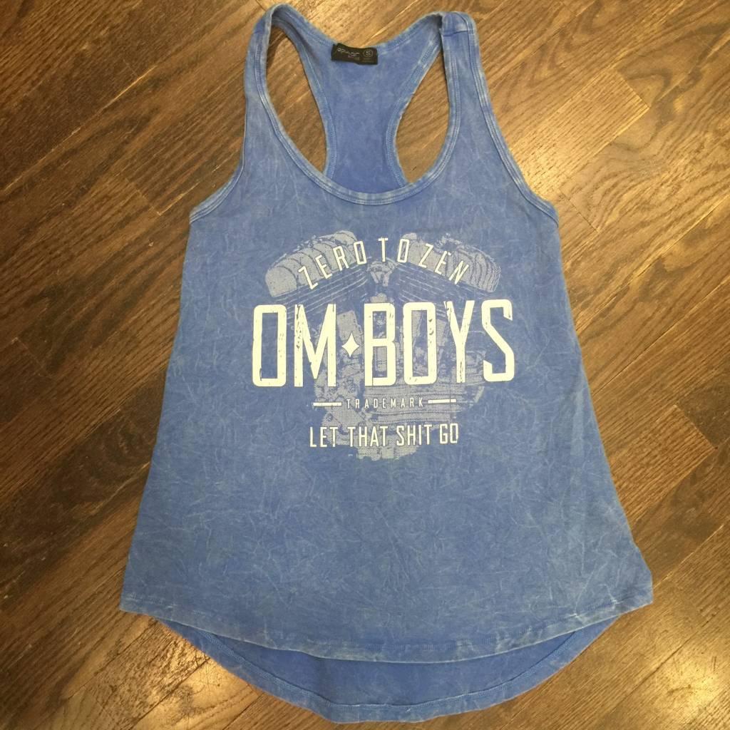 Womens - Om Boys - Acid Wash Blue Tank Top - Let That Shit Go
