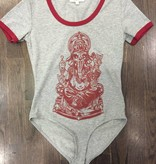 Womens - Om Boys - S/S BodySuit w/Trim - Ganesh