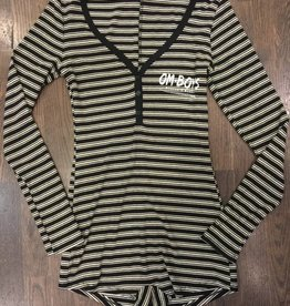 Womens - Om Boys - L/S Romper - Wheels & Waves