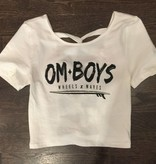 Womens - Om Boys - Crop Top w/X-Back - W & Waves