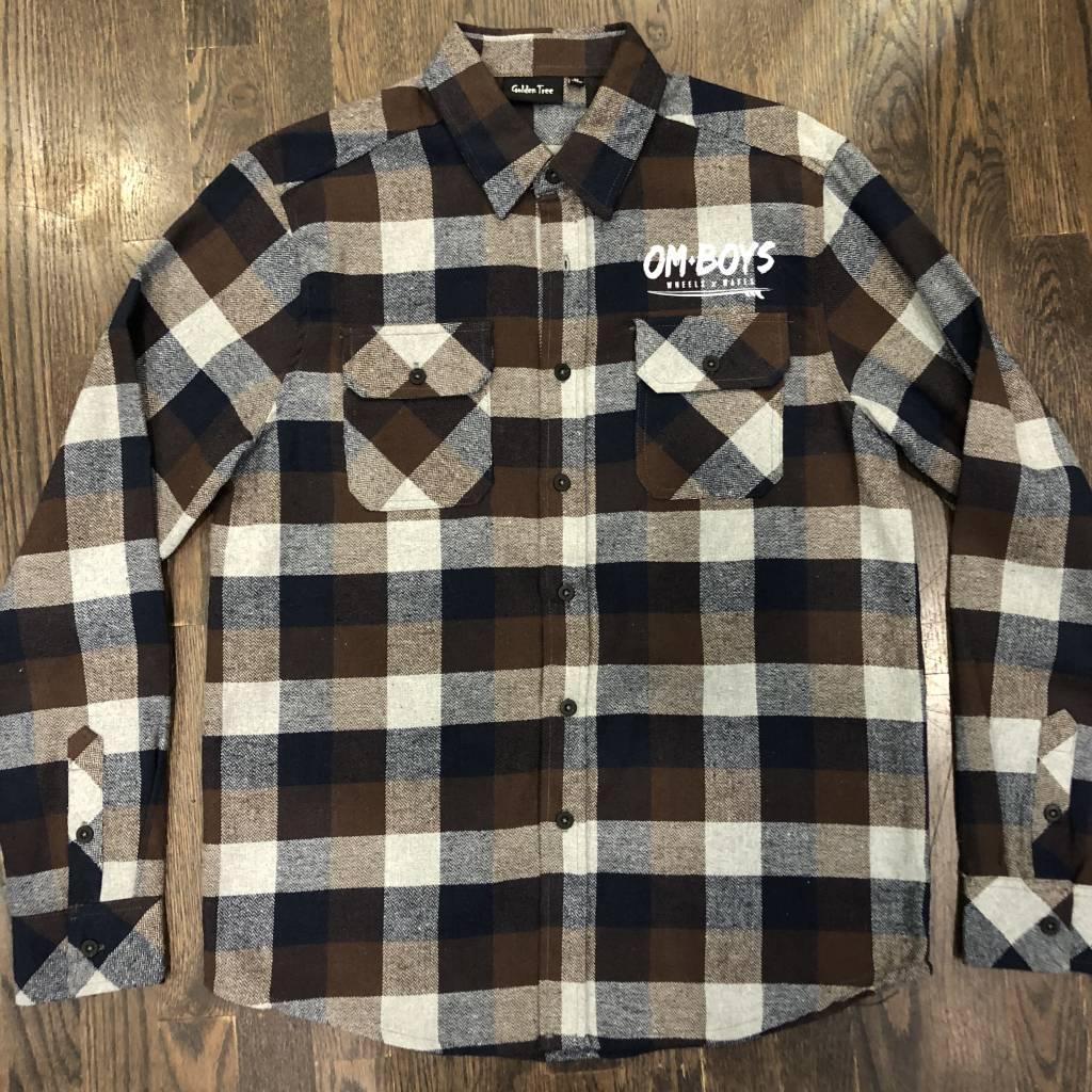 Mens - Om Boys - L/S Plaid Shirts - Wheels & Waves
