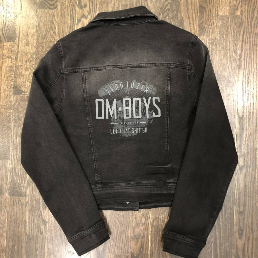 Womens - Om Boys - Denim Jacket - Let  That Shit Go Print
