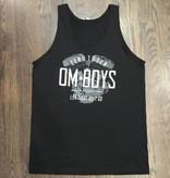 BW101-BLA-ZERO - Om Boys - Mens Black Jersey Tank Tops