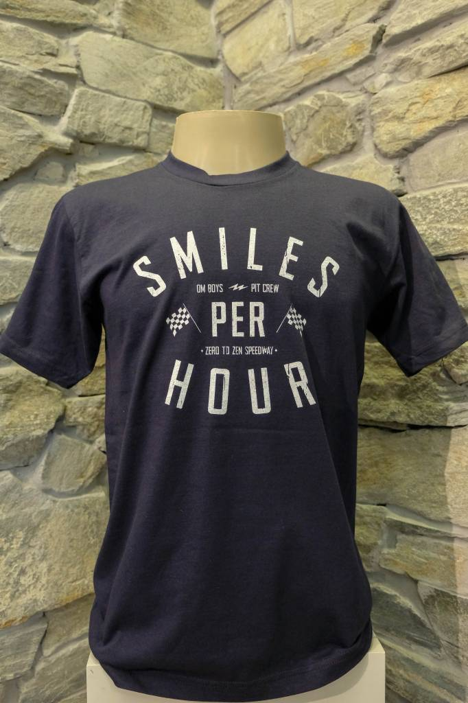 Mens - Om Boys - Navy S/S T-Shirts - Smiles Per Hour