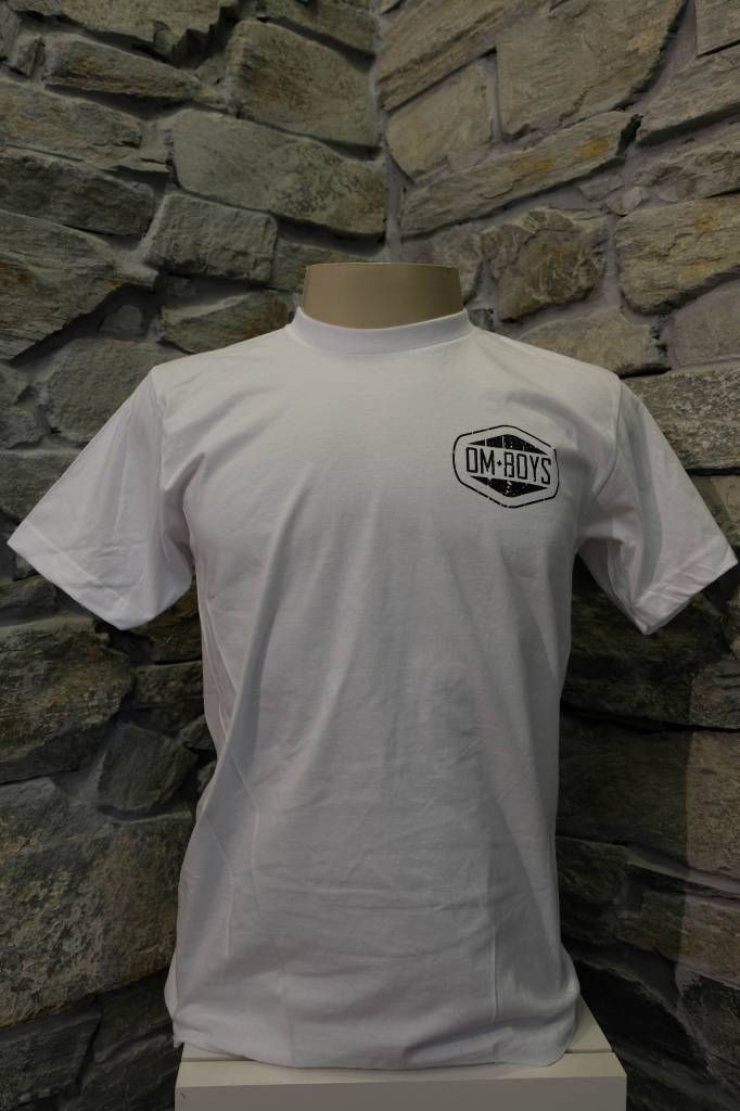 Mens - Om Boys - White S/S T-Shirts - Zen Truck