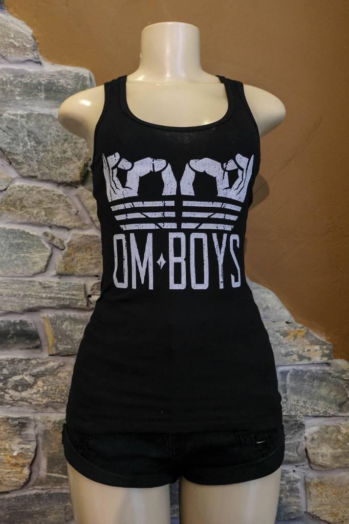 Womens -  Om Boys - Rib Tank Top - Om Hands
