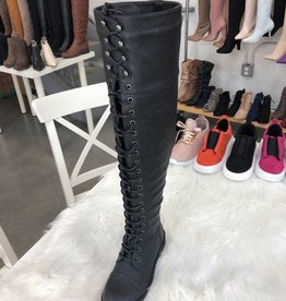 CZ - Womans - Combat Thigh High Boots