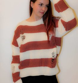 CZ43 - POL - Oversize Striped Knit Sweater