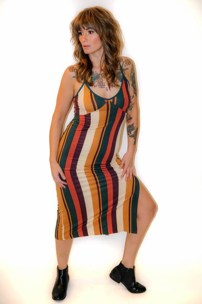 CZ34 - MonoB - Striped 70s Dress