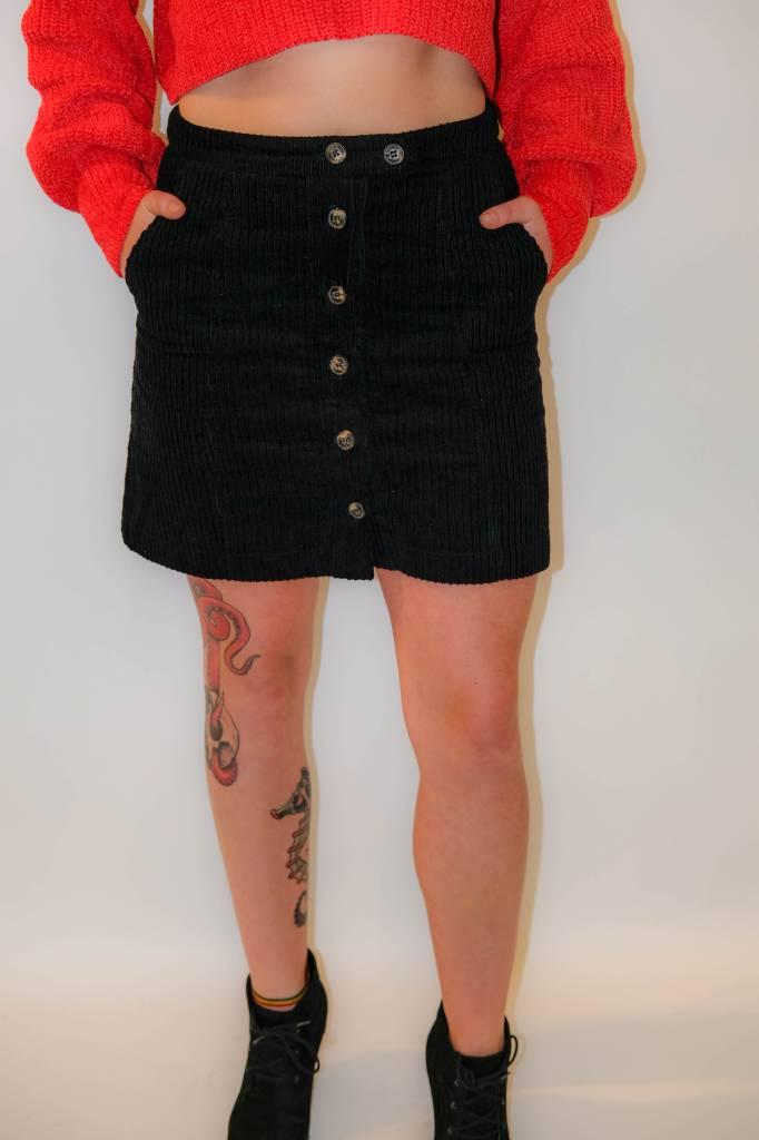 CZ25 - Loveriche - Corduroy Button Skirt