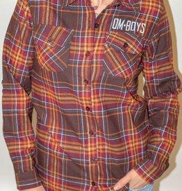 Womens - Om Boys - L/S Plaid Shirt - Sloth