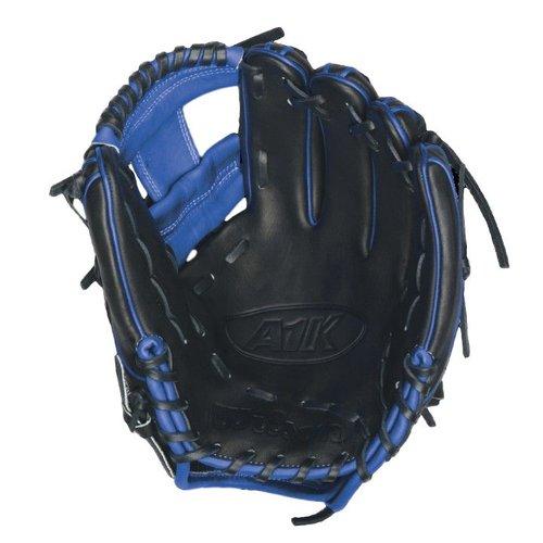"Wilson A1K DP15 Blue Accents 11 1/2"" Baseball Glove WTA1KRB16DP15B"