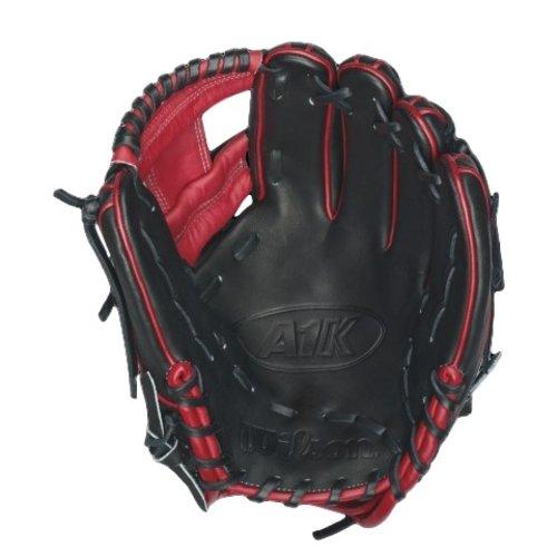 "Wilson A1K DP15 Red Accents 11 1/2"" Baseball Glove WTA1KRB16DP15R"