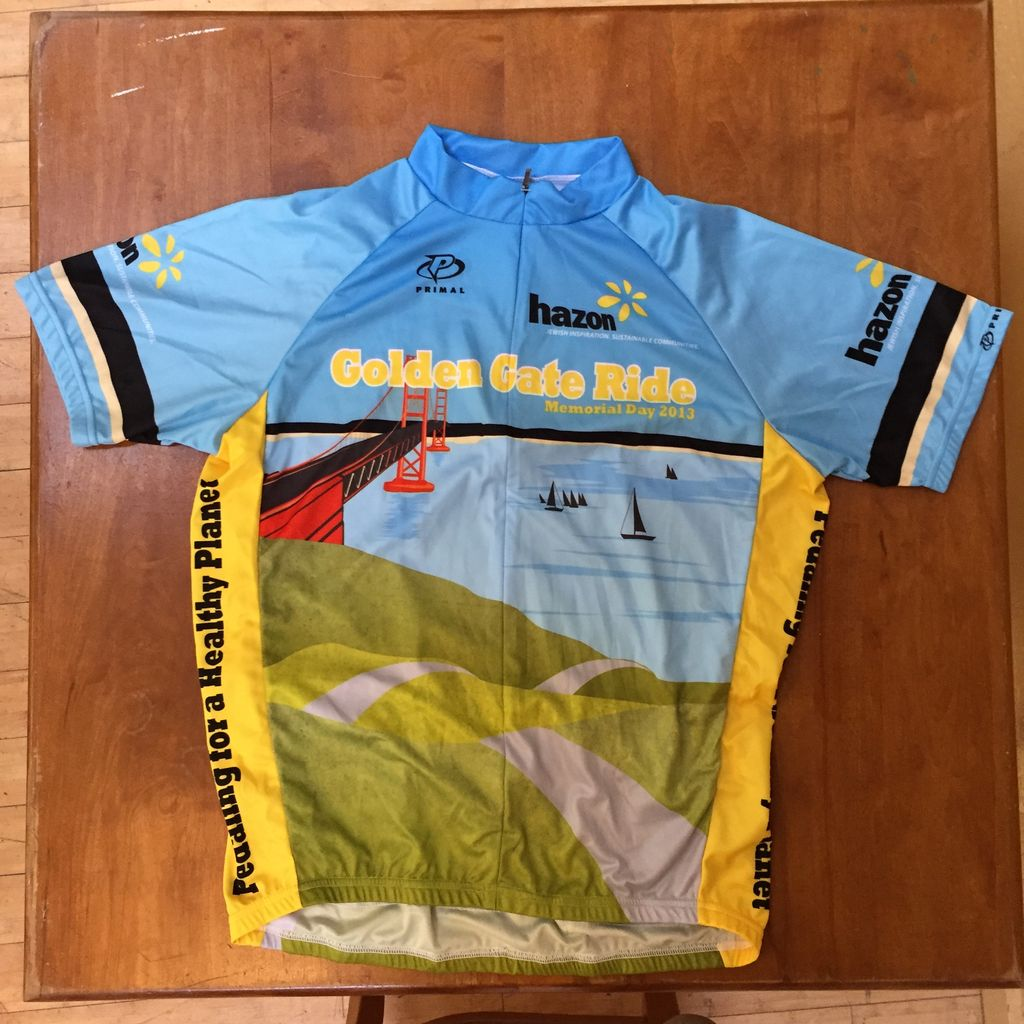 Vintage Hazon Bike Jersey - 2013 Golden Gate Ride