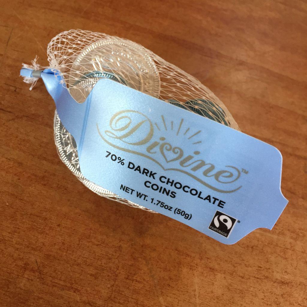 Divine Chocolate Guilt-Free Gelt - 70% Dark