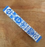 Homewares Hand Painted Wooden Mezuzah by Word Play Designs - Shalom #1