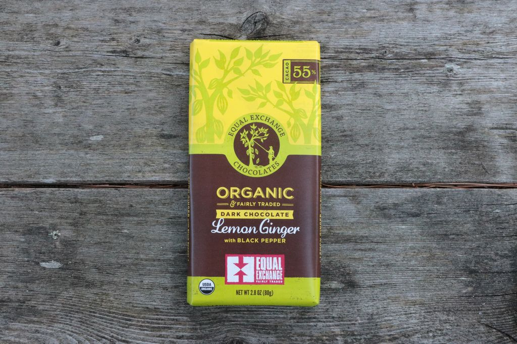 Equal Exchange Organic Dark Chocolate Lemon Ginger with Black Pepper (55% Cacao)